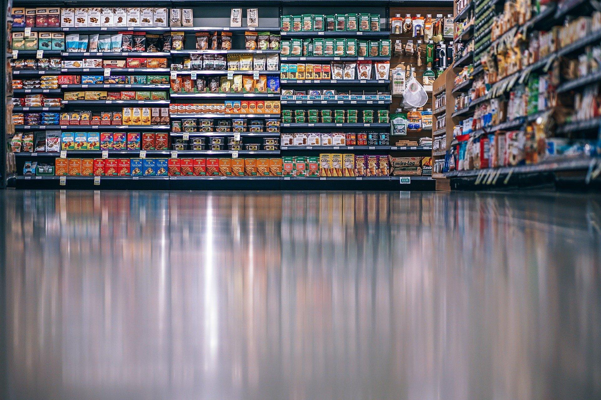 A shopping aisle