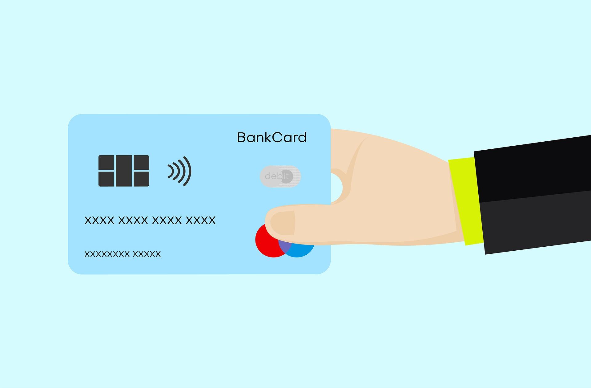 A credit card representing debt